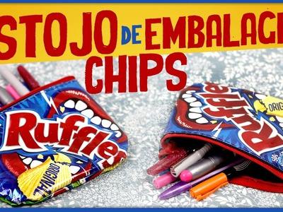 "Estojo de embalagem Chips =DiY | ""Especial Volta às Aulas"""