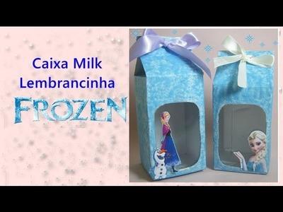 Lembrancinha Caixa Milk com visor Frozen