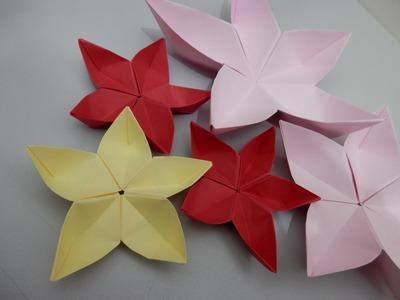 Origami Flor de cerejeira - Sakura 1