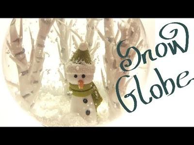 Snow globe.globo de neve- Polymer clay tutorial