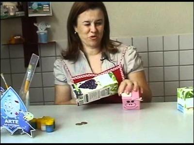 Arte do Saevinho  - Cofre de caixa de leite
