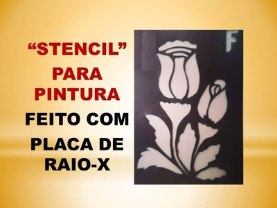 """DIY - Aprendar a fazer """"stencil caseiro"""" - by Ateliê DeCoração"""