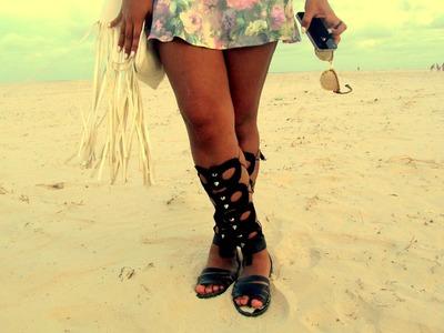 DIY: barefoot sandals | Customização: Como fazer gladiadora
