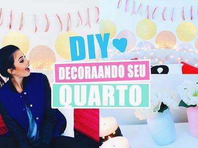 DIY Decoração para Seu Quarto - SUPER FÁCIL! #VEDA8