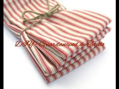 DIY - Guardanapo de tecido em 10 minutos!