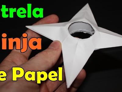 Estrela ninja de papel - (Shuriken do Naruto)