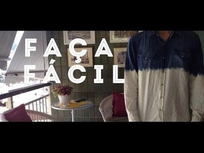 Faça Fácil: Camisa desbotada