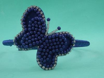 Faça você mesma: Tiara com borboleta de pérolas