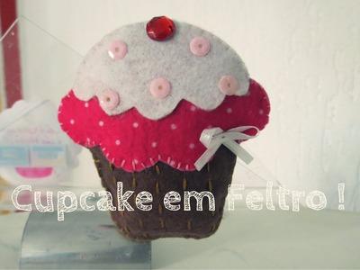 Faça voce mesmo | Cupcake em feltro