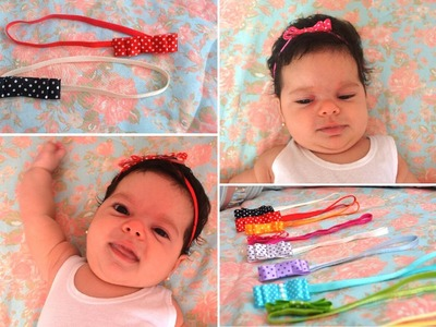 Faça você mesmo: faixa de elástico e presilha para bebê