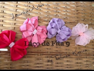 Laço de fita 9 by Tatiana Karina (ribbon bow hair)