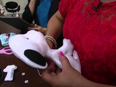 Mulher.com - 04.03.2016 - Snoopy em feltro - Raquel Silva