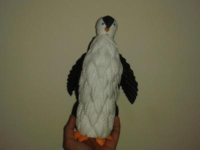 Pinguim de E V A com Garrafa Pet