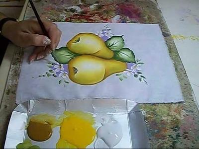 PINTURA EM TECIDO - Pêras - How to painting a pear