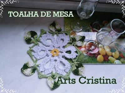 TOALHA DE MESA CROCHE 005 | Arts Cristina