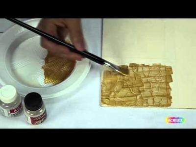 Acrilex - Técnicas - Como utilizar Craquelex Color