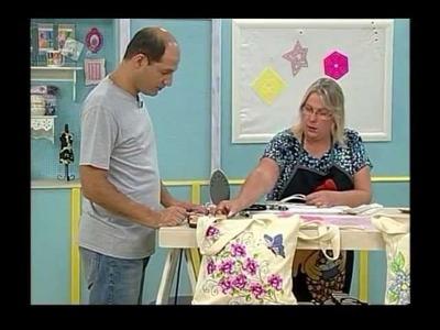 Ateliê na TV - Márcia Caires - Chinelo e Ecobag