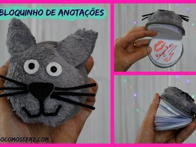 Bloquinho de anotações de gatinho * DIY  *