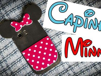 Capinha para celular da Minnie de EVA