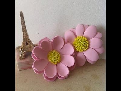 Como fazer flores em EVA