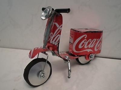 Como fazer lambreta vespa de latinha da Coca Cola '' tutorial 01''