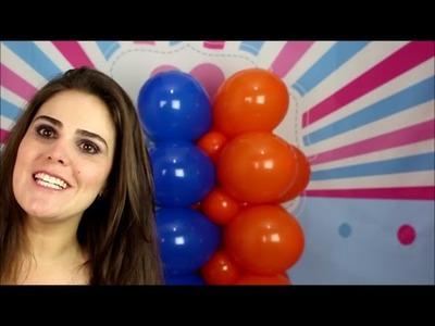 Como fazer uma coluna de bexiga (balões) quadrada