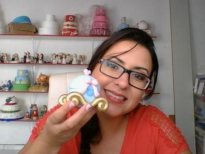 DIY- Aula Carruagem da Cinderela - Raquel Fontinele - Aula de Biscuit
