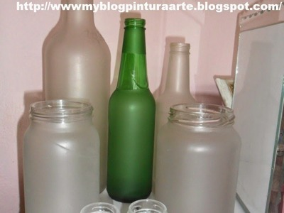 Falso jateado  em vidro e plástico. how to make frosted glass using varnish