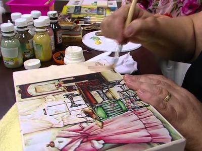 Mulher.com - 12.02.2016 - Caixa de costura mdf decorada - Rose Rodrigues PT1