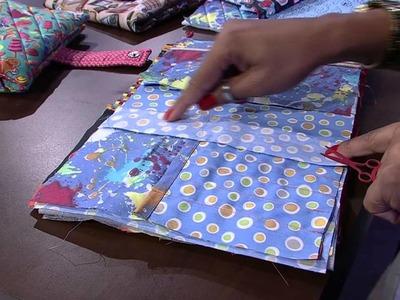 Mulher.com 30.01.2015 Néia Rocha - Estojo escolar patchwork