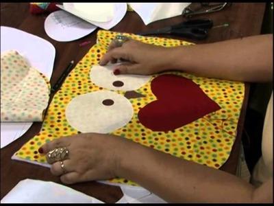 Mulher.com 30.11.2012 Marlei Fosco - Jogo americano de coruja