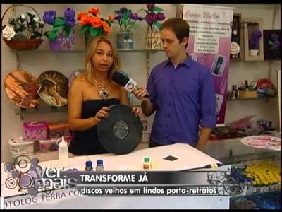 TRANFORME VINIL EM PORTA RETRATO   VER MAIS 18 01 13