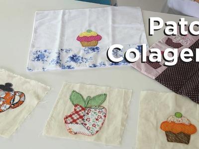 Video aula - Aprenda como fazer patch colagem ou apliques de retalhos em tecido