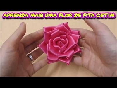 Aprenda Neste Passo a Passo Mais uma Flor de Fita Cetim PAP