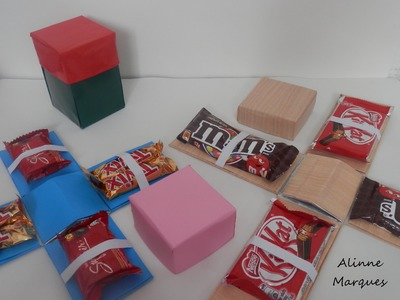 Caixa explosiva de chocolate - Artesanato com reciclagem - Passo a passo