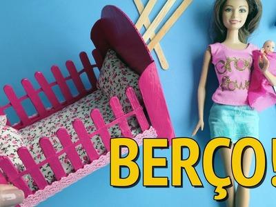 Como fazer Berço para Barbie e outras Bonecas sem Cola Quente!