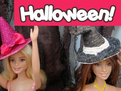 Como fazer Chapéu de Bruxa para a Barbie usar no Halloween :)