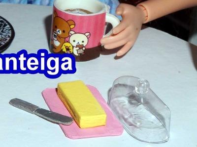 Como fazer manteiga para bonecas Barbie e outras - miniatura faça você mesmo *fácil*