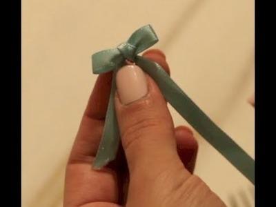 Como fazer mini laço com garfo