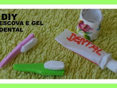 Como fazer pasta de dente creme dental  e escovas para a boneca Barbie