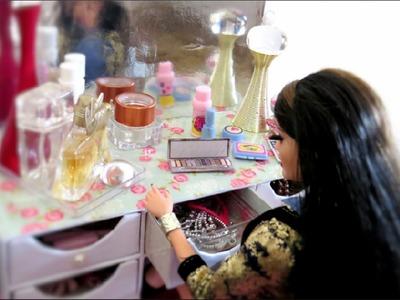 Como Fazer Penteadeira Camarim para Barbie e Outras Bonecas com Papelão