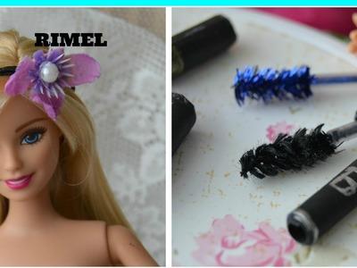 Como fazer rimel maquiagens para Barbie e outras bonecas