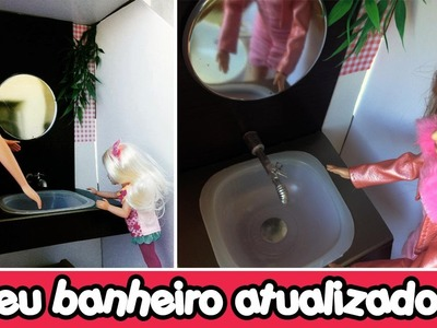 Como fazer torneira e pia de banheiro para Barbie e Outras bonecas