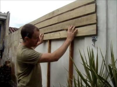 Como fazer um deck de madeira em paredes