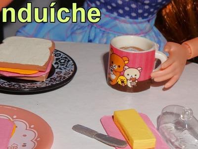 Como fazer um sanduíche (comida) para bonecas Barbie e outras - miniatura faça você mesmo *fácil*