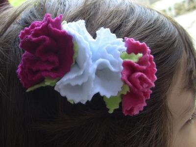 Cravos de  feltro passo a passo- - fabric flowers ,Tutorial