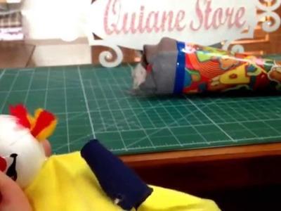 Dica do dia: Palhacinho no Cone de linha - (souvenir little clown)