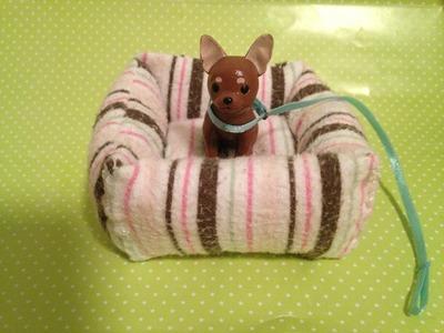 DIY - Como fazer uma cama de cachorro para boneca