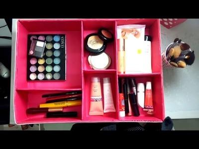 DIY: Como fiz meu organizador de maquiagem gastando menos de R$ 10,00 - Bruna Leal