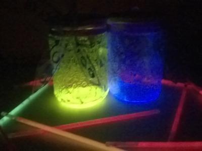 DIY Pote de pó de fada.Fairy glow jar
